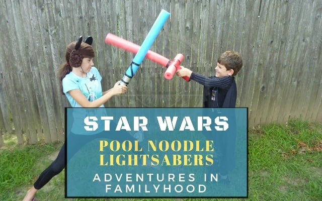 DIY Star Wars Pool Noodle Lightsabers