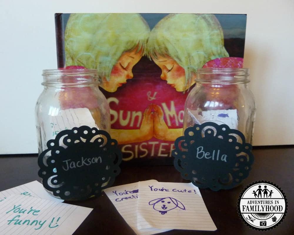 Sun and Moon Sisters follow up activity   Sibling jar
