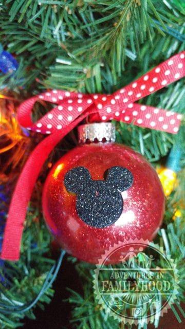 Disney Themed Glitter Ornaments   Mickey Ornament