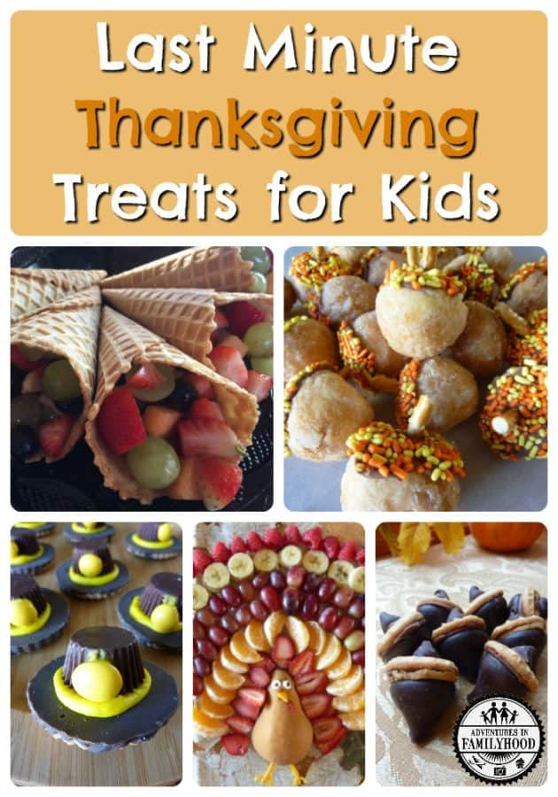 Last Minute Thanksgiving Treats for Kids