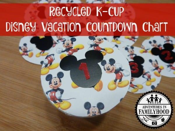 K-cup Disney Countdown Chart
