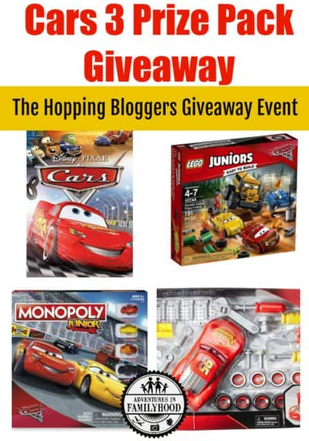 Cars 3 Prize Pack Giveaway