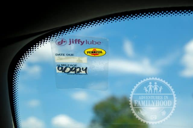 Jiffy Lube Mileage Windshield Sticker