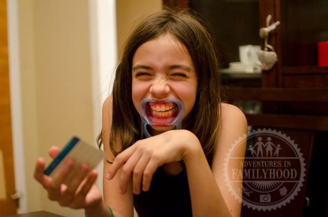 Bella playing Mouthguard Challenge